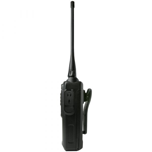 AWR-8000 two-way radio side view with antenna