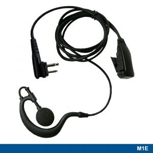 M1E Ear Hook Headset With Two-wire PTT – 210858