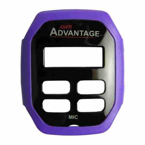 AWR Advantage Two-Way Radio purple faceplate