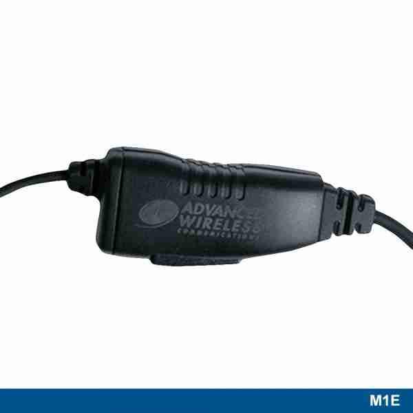 M1E Reversible Ear Hook Headset PTT button