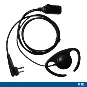 M1E Flexible Ear Loop Headset With Two-wire PTT – 221110