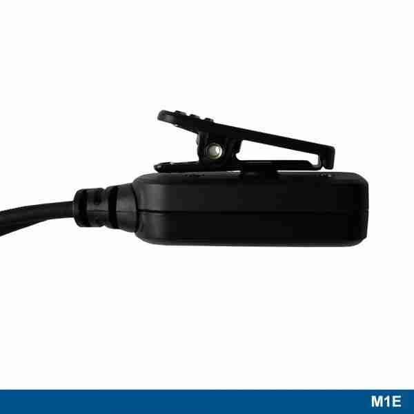 M1E Long tube surveillance headset PTT clip