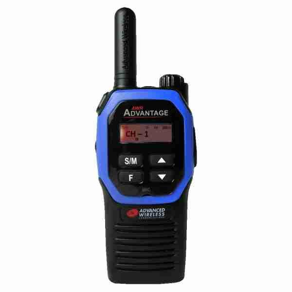 AWR Advantage Two-way Radio blue faceplate