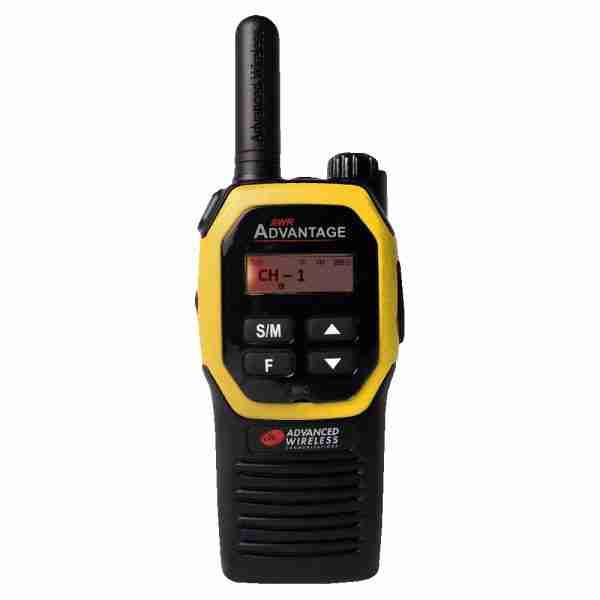 AWR Advantage Two-way Radio yellow faceplate