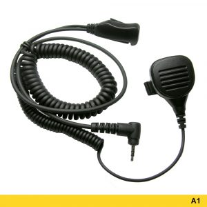 A1 Mini Speaker Microphone With Coiled Two-wire PTT – 207681