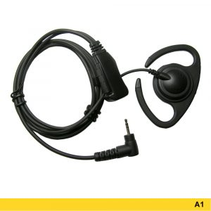 A1 Flexible Ear Loop Headset With Two-wire PTT – 207698