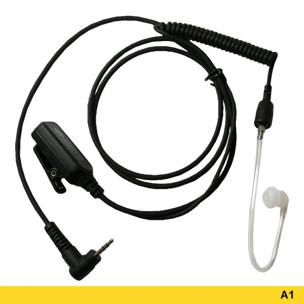 A1 Standard Surveillance Headset With Short Acoustic Tube & Two-Wire PTT