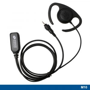 M10 Flexible Ear Loop Headset With Two-wire PTT – 221347