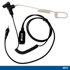 M10 Surveillance Headset With Long Acoustic Tube & Two-wire PTT – 221348