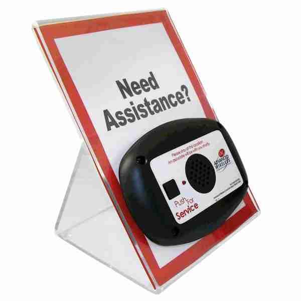 AWC Mini Call Box on acrylic sign
