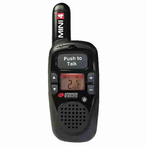MINI 4 two-way radio, black faceplate