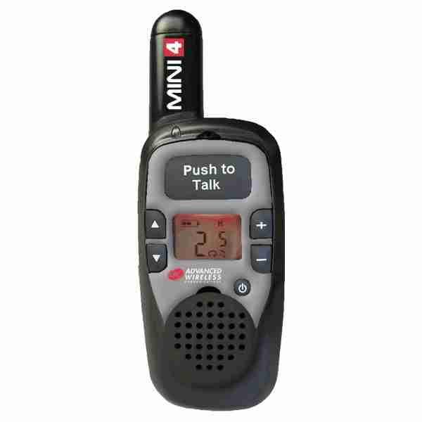 MINI 4 two-way radio, silver faceplate