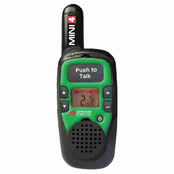 MINI 4 two-way radio, green faceplate