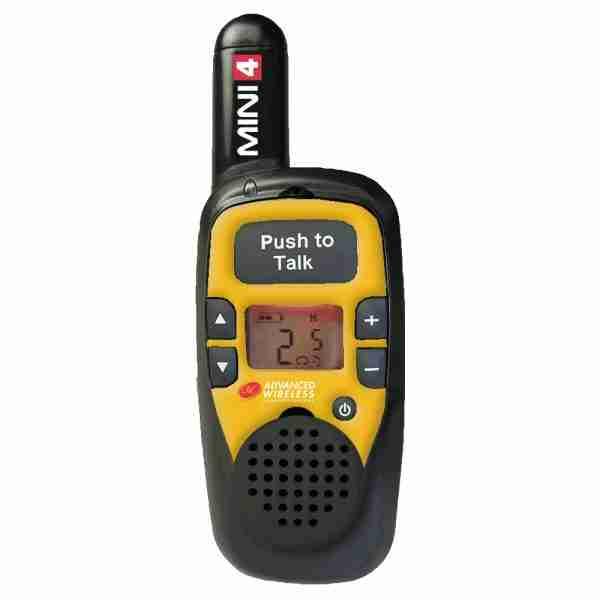 MINI 4 two-way radio, yellow faceplate