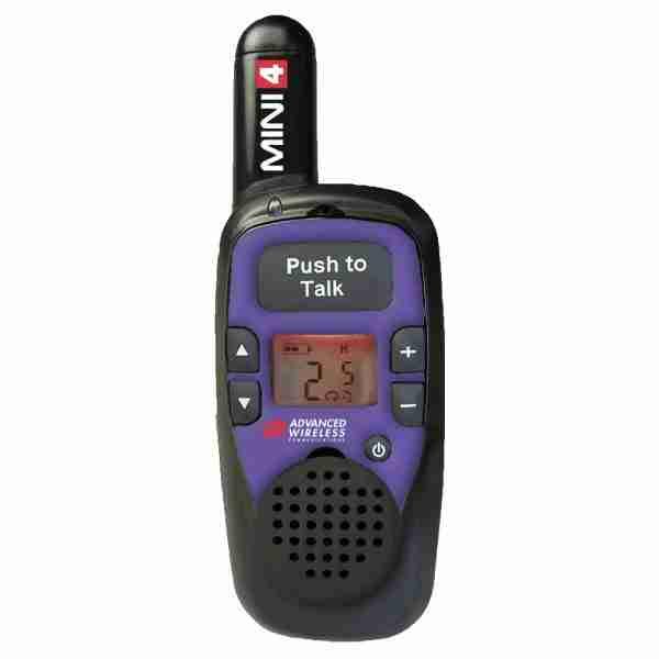 MINI 4 two-way radio, purple faceplate