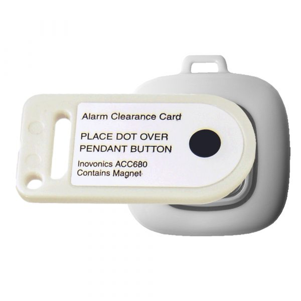 Single Button Waterproof pendant clearance card, ACC680-BU