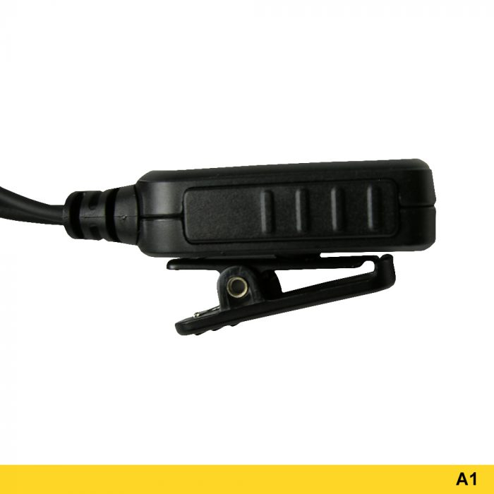 A1 Reversible Ear Hook Headset with Two-wire PTT - 221043